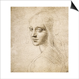 Study for the Head of a Girl, c.1483 Prints by  Leonardo da Vinci