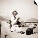 Eva Braun Relaxing at the Berghof, 1942 Prints by  German photographer