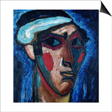 Head of a Man (Alexander Sacharoff), c.1911 Prints by Alexej Von Jawlensky