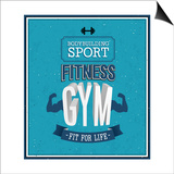 Fitness Gym Design Prints by  MiloArt