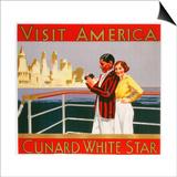 Visit America, Cunard White Star Poster Art
