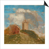 The Windmill, C.1880 Prints by Odilon Redon