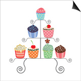 Cupcakes On A Stand Posters by  dmstudio
