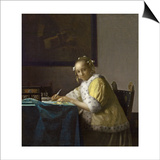 A Lady Writing, C. 1665 Prints by Jan Vermeer