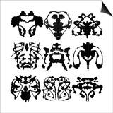 Nine Rorschach Test Print by  akova