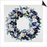 A Garland of Pansies Art by Antoine Pascal