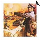Field Marshal Rommel Art by  English School