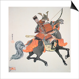 Samurai of Old Japan Armed with Bow and Arrows Poster by  Japanese School