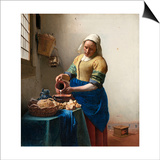 The Milkmaid Prints by Jan Vermeer