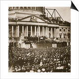 Inauguration of President Lincoln, 4th March 1861 Poster by Mathew Brady
