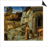 St. Francis of Assisi in the Desert, C.1480 Prints by Giovanni Bellini