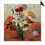 Roses and Anemones Prints by Vincent van Gogh