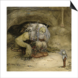 John Bauer - The Troll and the Boy - Poster