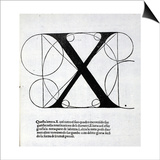 X, Illustration from 'Divina Proportione' by Luca Pacioli (C.1445-1517), Originally Pub. Venice, Art by  Leonardo da Vinci