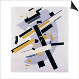 Supremus No. 58 Dynamic Composition in Yellow and Black, 1916 Plakater af Kasimir Malevich