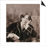 Portrait of Oscar Wilde (1854-1900), 1882 (B/W Photo) (Detail of 87436) Prints by Napoleon Sarony
