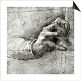 Study of a Hand Prints by  Leonardo da Vinci