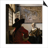 Amorous Couple, C.1657-58 Posters by Jan Vermeer