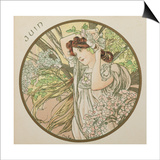 June, 1899 (Detail) Posters by Alphonse Mucha