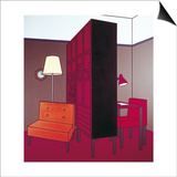 Interior with Room Divider, 1971 Prints by Patrick Caulfield