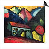 A House in the Mountains, c.1912 Poster by Alexej Von Jawlensky