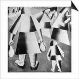 In the Fields Plakater af Kasimir Malevich