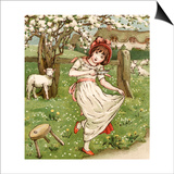 Little Miss Muffet Prints by Kate Greenaway