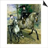 Horsewoman in the Bois de Boulogne Posters by Pierre-Auguste Renoir