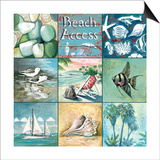 Beach Access - Nine Square Poster by Gregory Gorham