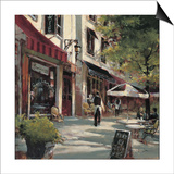 Boulevard Cafe Print by Brent Heighton