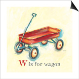 W is for Wagon Posters by Catherine Richards