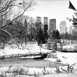 Central Park in the Snow Prints by Philippe Hugonnard