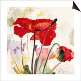 Crimson Poppy 2 Posters by  Marysia