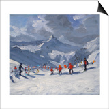 Ski School, Tignes, 2009 Posters by Andrew Macara