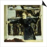 Woman Opening a Window Kunstdrucke von Edouard Vuillard