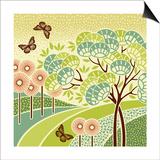 Hazy Day Butterflies Prints