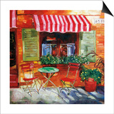 Napa Bistro Print by David Lloyd Glover