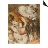 The Hatpin; Le Chapeau Epingle Prints by Pierre-Auguste Renoir
