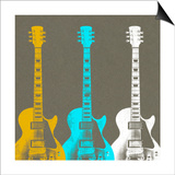 Guitars 2 Prints by Stella Bradley