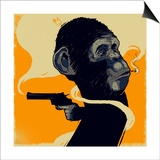 Gun Monkey Poster by  Bezt