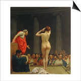 A Roman Slave Market Art by Jean Leon Gerome