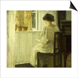 A Woman Reading in a Sunlit Interior Prints by Carl Holsoe