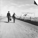 Toward Los Angeles, California Poster af Dorothea Lange