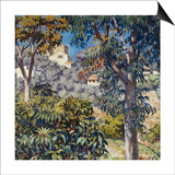 Paysage du Midi Print by Theo Rysselberghe