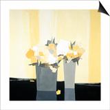 Fleurs Jaunes Poster by  Monestier