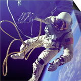 Astronaut Edward White During His 23 Minute Space Walk Prints