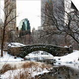 Snowy Gapstow Bridge of Central Park, Manhattan in New York City Posters by Philippe Hugonnard