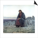 Christ in the Wilderness, 1873 Prints by Ivan Nikolaevich Kramskoy