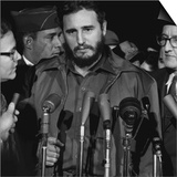 Fidel Castro Arrives Mats Terminal, Washington D.C. Prints by Warren K. Leffler
