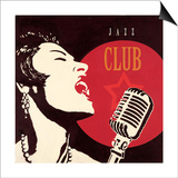 Jazz Club Poster by Marco Fabiano